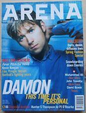 ARENA #66 MAR 1997 UK DAMON ALBARN KEEGAN NICK CAVE BOWIE TRAVOLTA MUHAMMAD ALI