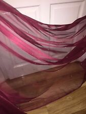 "25 MTR ROLL OF SOFT MAROON TULLE STUDDED BRIDAL/DECORATION NET FABRIC..45"" WIDE"