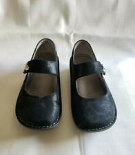 Alegria Womens Shoes Size 37 6.7 7 M Claddagh PAL-463 Panoma Black Suede Leather