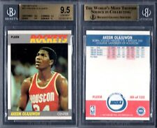 BGS 9.5 1987-88 Fleer #80 Hakeem Olajuwon POP10 Houston Rockets G00 1441