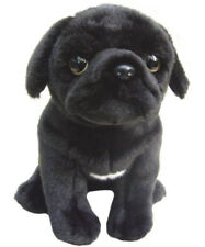 "Faithful Friends Pug Black 12"" Soft Toy Dog"