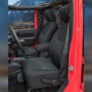 Jeep Wranglar JK 2011-2018 Wetsuit Neoprene Seat Cover Front Row - Black