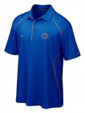 NIKE FIT DRY DRI BOISE STATE BRONCOS BSU COACHES POLO SHIRT XS NEW TOP NWT  BLUE