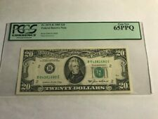 $20 1985 Federal Reserve Note Pcgs Gem New 65 Ppq Fr. 2075-B