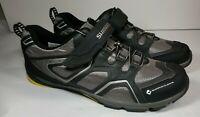 Shimano Mens Size us 12.3 eu 48 Cycling Shoes black gray ct70 click'r riding