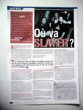 COUPURE DE PRESSE-CLIPPING : SLAYER  09/2001 Kerry King,Paul Bostaph,God Hates