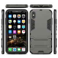 [Gunmetal] Hard PC+Soft TPU Armor Case Cover For iPhone XR X XS MAX 8 7 6 Men-US