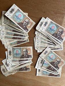 CZECHOSLOVAKIA: Set 50x Czech Banknotes CRAZY STUFF 10 Korun Czech Culture LOT