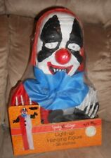 "Scary Light Up Hanging Halloween Figure 36"" Clown Spooky Village New"