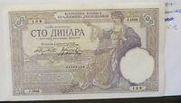 1929 Yugoslavia 100 dinar banknote (39.5.12)