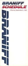 Braniff Airways system timetable 9/5/84 [308BN] Buy 2 Get 1 Free