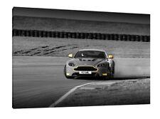 Aston Martin V12 Vantage - 30x20 Inch Canvas - Framed Picture Print