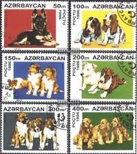 Aserbaidschan 306-311 (kompl.Ausg.) gestempelt 1996 Hundewelpen