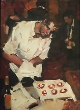 "Kim Roberti's ""On the Sweet Side"" original small daily oil painting 5"" x 7"" NEW"