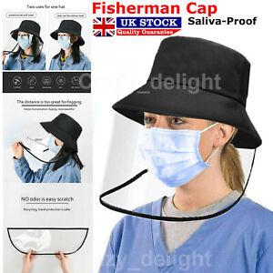 Fisherman Protective Cap Hat Clear Mask Saliva-proof Dust-proof Sun Visor Unisex