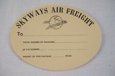 More details for  skyways air freight airline luggage label