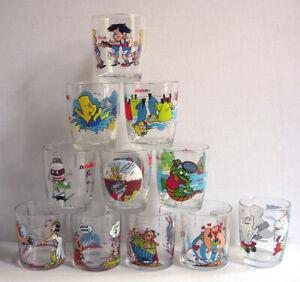 LOT of Vintage Greek NUTELLA Glasses U PICK Asterix The Simpsons Greece