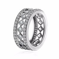 2017 Luxury 925 European Sterling Fashion Style Silver Ring Fit Women Size 6-10
