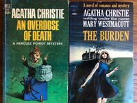 TWO (2) Mysteries, by Agatha Christie, vintage paperbacks, 1965