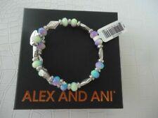 Alex and Ani Women's Islander Wrap Bangle Bracelet Rafaelian Silver Expandable