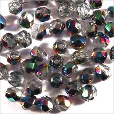 Facettes de Bohème 4mm Vitrail Lot de 50 perles