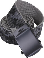 Subdued Urban Digital Camouflage Reversible Cotton Web Belt w/ Black Buckle 54""