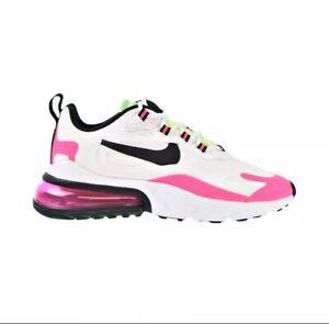 Nike Air Max 270 React Women's Shoes White Hyper Pink Green CJ0619-101 Size 8.5W