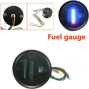 """2"""" 52mm LED Display Fuel Level Meter Gauge Waterproof  For Car Boat Motorcycle"""