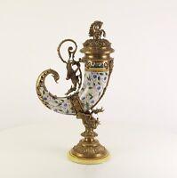 A Bronze Mounted Porcelain Cornucopia Horn