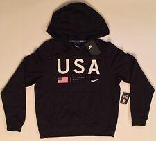 Nike Team USA Olympic Hoodie Korea Black AH0527 010 Women's Medium New