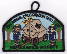 BOY SCOUT PATCH - SAMOSET COUNCIL - RIB MT. DIST - 2012 CHUCKWAGON - 29TH ANNUAL