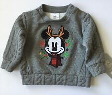 NWT DISNEY BABY Infant Boy MICKEY MOUSE CHRISTMAS WINTER SWEATER 6-9 Months