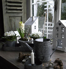 Neues AngebotGießkanne Zink Kanne Metall Antik Shabby Vintage Garten Landhaus Nostalgie Klein