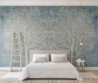 3D Weißer Wald Q784 Tapete Wandbild Selbstklebend Abnehmbare Aufkleber Kids Su