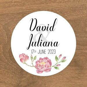 Personalised Wedding Stickers Favour Labels (A-007)