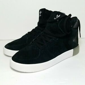 NWOT Adidas Tubular Invader 2.0 high top shoes black 6 concave sole clear heel