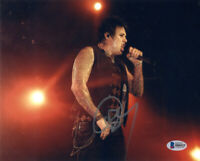JACOBY SHADDIX SIGNED AUTOGRAPHED 8x10 PHOTO LEAD SINGER PAPA ROACH BECKETT BAS