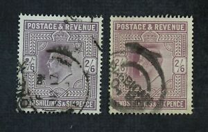 CKStamps: Great Britain Stamps Collection Scott#139 Edward Used 2 Shades