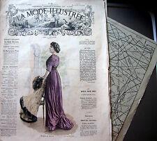 LA MODE ILLUSTREE + PATRON,  n° 50/1909 Voir modèles à réaliser, FRENCH PATTERN