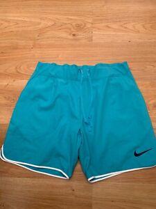 Medium Mens Nike Gladiator Premier 7 inch Tennis Shorts Omega Blue Nadal / 99p