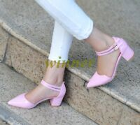 Hot Womens Chunky Mid Heels Shoes Ankle Strappy Buckle Pointed Toe Pumps us Sz 9
