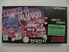 -= Super Comboy Hyundai Nintendo SNES = Tetris & Dr Mario / BE / Korean Version