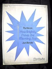 Noten - Partitur Partita on How Brightly Shines The Morning Star