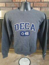 Vintage Deca 46 Crewneck Sweater Sweatshirt Mens Sz XS Champion Gray Fraternity