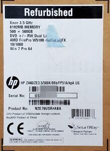 HP Z440 Workstation E5-1620v3 / 8GB / 2x 500GB / FirePro W5100 / Win 7