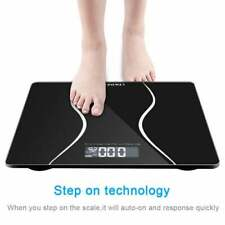 390lb Slim Waist Electronic Body Weight Scale LCD Digital Bathroom