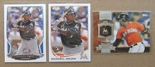(3) 2013 Marcell Ozuna RC Lot: Bowman 17 + Topps Update US279 + Chasing History