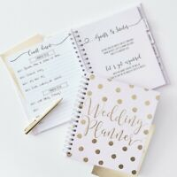 Ginger Ray Wedding Planner Luxury Pink & Gold  Book Diary Organiser GO-155