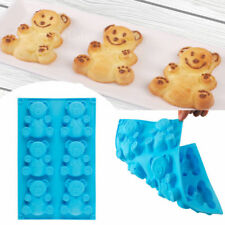 6-Cavity Bear Silicone Muffin Pan Pudding Cake Mold Bakeware Baking Tray Mould