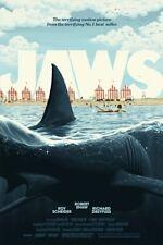 x/200 Bng Jaws Screen Print Movie Poster Florey Art Like Mondo